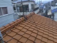 立平葺き前の瓦屋根