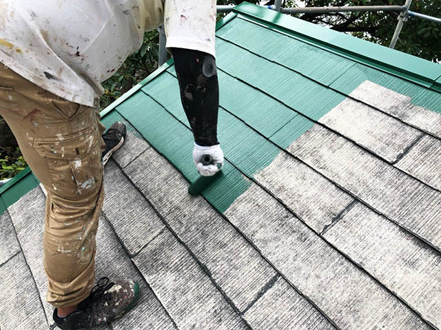 屋根塗装とジェルネイルの比較 塗装イメージ