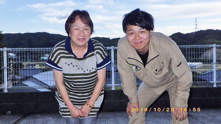 糸島市 N様邸より瓦のズレのご相談と施工の依頼がありました。