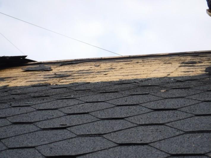 屋根剥ぎ 途中