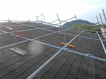 屋根塗装の期間 足場組立でも1日かかる