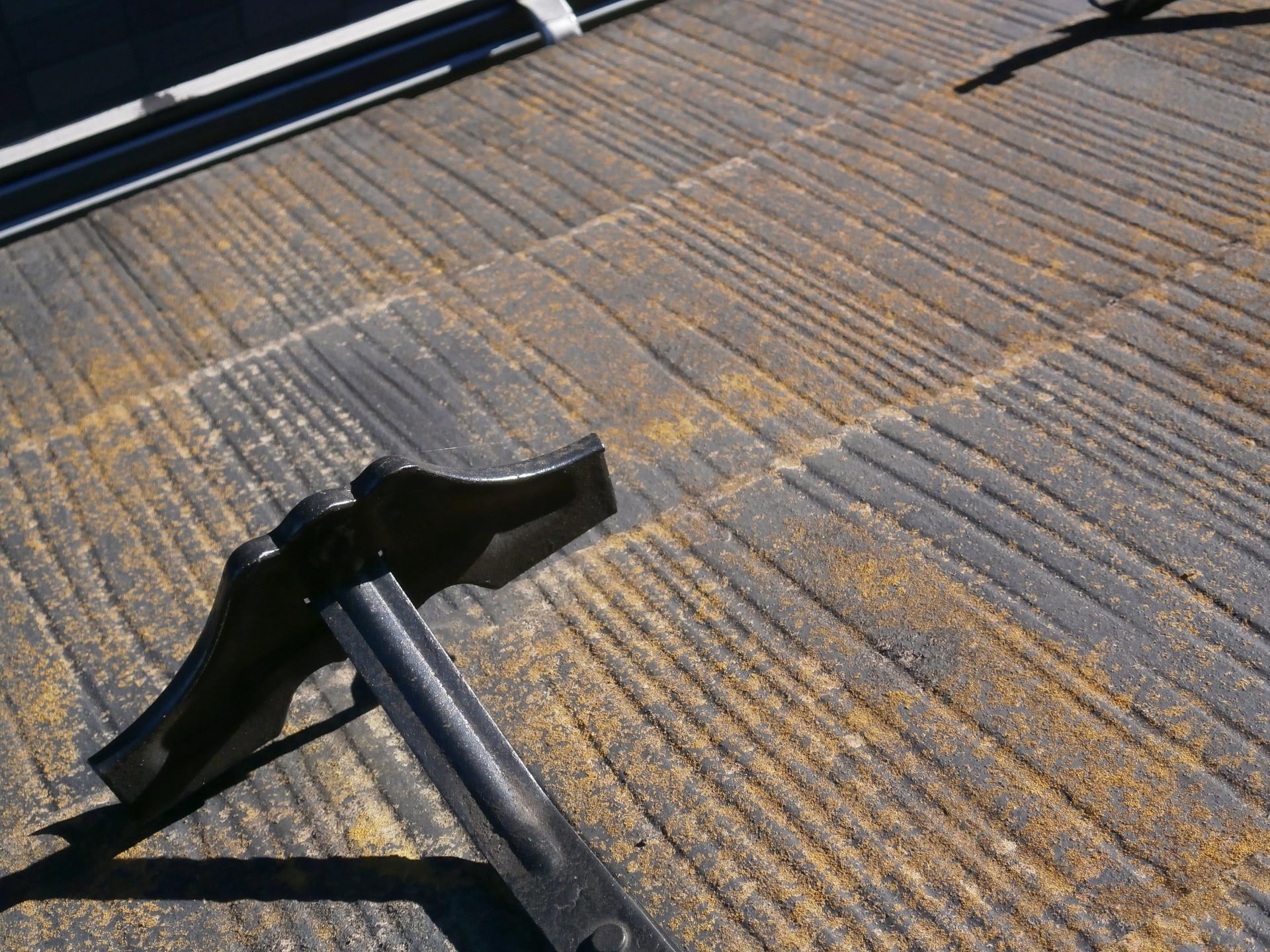 スレート屋根の塗装前